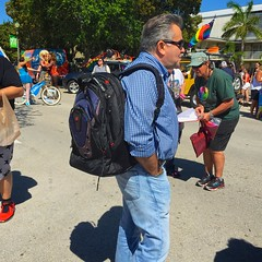 Urban Backpacker (LarryJay99 ) Tags: street gay shirtless people urban man male men guy face sunglasses walking beard t goatee glasses rainbow nipples arms florida candid profile smiles bluesky guys flags dude belly backpack facialhair dslr dudes rainbowflag blackmale photostream spacemen lakeworth hairyarms iphone6 peekingpits ilobsterit iphone6plusbackcamera415mmf22 ilobsteritflickr