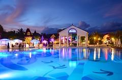 French Village Pool At Dusk (Joe Shlabotnik) Tags: pool swimmingpool beaches turkscaicos faved 2015 providenciales beachesresort november2015 afsdxvrzoomnikkor18105mmf3556ged heylookatthis