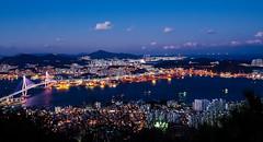 Busan-Night View-Bongraesan-South Korea (mikemellinger) Tags: ocean city beautiful beauty night lights coast cityscape view nightscape views busan stunning southkorea viewpoint sparkling beautifull crowded    busanharbor  bongraesan bongraemountain busanharborbridge