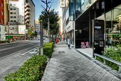 sidewalk, Yotsubashi-suji, Osaka (jtabn99) Tags: yotsubashisuji street window reflection sidewalk osaka japan nippon nihon casiohdrartmode 大阪 四つ橋筋 歩道 反射 窓