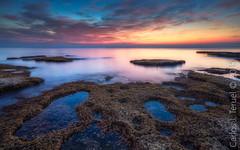 Cabo Cervera. (Carlos J. Teruel) Tags: rock mar nikonafsnikkor1835mmf3545ged sunrise le filtros torrevieja rocas marinas cabocervera nikon1835 cielo amanecer xaviersam nubes cloud carlosjteruel photography reflejos nikon mediterraneo 1835 d800e sea