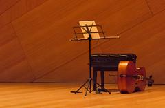 Pre Performance (Robert Borden) Tags: cello stage performance waiting bow music stand setup preconcert northamerica usa west southwest california socal sandiego sd ucsd conradprebys tjborden