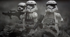 Squad Advance! (EternalSlothman) Tags: green storm trooper star wars war lego outdoors clone troopers first order blasters afol minifigs minifigures bricks blocks canon toy toys force legos t3i