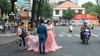 Bridal Shoot (Ron Scubadiver's Wild Life) Tags: girl woman people candid street style nikon 50mm outdoor vietnam hochiminhcity saigon bride pink
