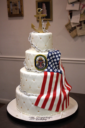 USS Constitution Anniversary Cake