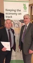 With Cllr John McMillan ECMA reception at Holyrood