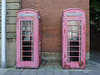 Less than Perfect (alison's daily photo) Tags: phoneboxes pink decay broken lessthanperfect seenbetterdays cumbria 117picturesin2017
