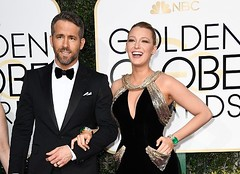 Golden Globes 2017 with the most beautiful couple in Hollywood (MediaGuyMike) Tags: ryan reynolds golden globes goldenglobes blake lively