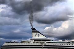departure – lähtö (Bernergieu) Tags: clouds ship helsinki harbour cruiser finnland smoke