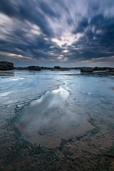 Heavens Teardrop (Rodney Campbell) Tags: coalcliff longexposure ocean water rocks cpl reflection gnd09 sky sunrise clouds newsouthwales australia au