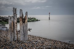 Last remnants (James Waghorn) Tags: reculvertowers seaweed winter nikkor35mmf18 longexposure reculver nd1000 pebbles clouds sea kent d7100 rocks england nikon smooth 10stopper