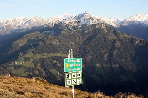 Aussichtsplatz Melchboden (2000 m Seehöhe)