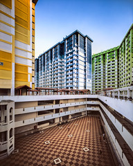 Colours of Rochor (Scintt) Tags: singapore rochor centre buildings architecture weather clouds sky sun light glow large format slow shutter fuji rdp slide colour positive film silver 4x5 gaoersi 58mm wide angle super angulon schneider travel old vintage hdb housing estate homes apartments tiles lines patterns textures rainbow yellow blue green blocks flats iconic demolished surreal empty scintillation scintt jon chiang photography history velvia 50 tetenal e6 diy self develop structure colourful vibrant saturated tilt shift clear