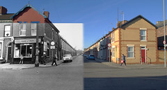 Elwy Street, Toxteth, 1969 and 2017 panorama (Keithjones84) Tags: liverpool merseyside toxteth dingle oldliverpool rephotography history localhistory thenandnow beatles ringostarr ringo