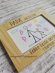 Cornice festa del Papà_07w (Morgana209) Tags: fathersday festadelpapà cornice portafoto legno pirografo handmade faidate pyrography regalo speciale dono bambini papà padre creatività pensierispeciali