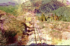 The Rail of Provence (Sebmanstar) Tags: art digital numerique creation creative creatif couleur color campagne pentax photography image imagination imagine manipulation transformed research nature rail provence work france french europe europa