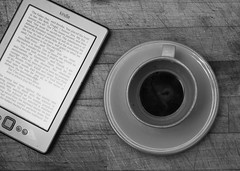 And in Silence (graemes83) Tags: pentax sigma singlein flash kindle coffee cup espresso read wood black white