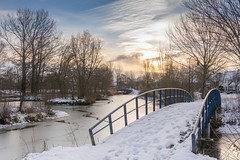Beukenpark-48 (stevefge) Tags: beukenpark beuningen landscape snow winter gelderland bridges trees sky water nederland netherlands nature nl natuur nederlandvandaag sneeuw ice reflectyourworld