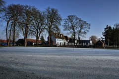 The frozen 18th. (Steve.T.) Tags: channelsgolfclub winter weather frozen frost frosty chelmsford essex 18thgreen golfcourse channels clubhouse 19thhole nikon d7200 sigma18200 bluesky clearsky trees