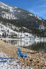 Beach chairs and mountains (quinn.anya) Tags: beachchairs mountains snow sand sandharbor