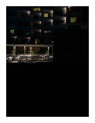humanhive (seba0815) Tags: ricohgrdiv grdiv color building architecture hotel mallorca island abstract hive human humanvive window light courtyard walk street seba0815 dark night