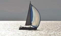 Time For Sailing (Kotsikonas Elias) Tags: sea boat yacht water athens greece nikon d3300 reflection sun sunset silver sailing