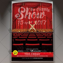 Comedy Show - Premium Flyer PSD Template (psdmarket) Tags: act acting comedian comedy entertain humor jokes laugh live microphone music night out perform pub show stage standup theatre tv