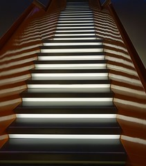 Going up! (Iris_14) Tags: stairs escalier treppe stuttgart architecture light mercedesbenzmuseum abstract lines reflet reflection
