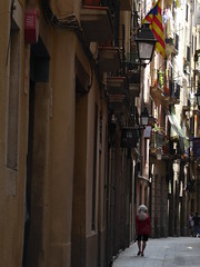 Me in Barcelona (ashabot) Tags: barcelona street city me spain europe cities asha citystreets streetscenes lightanddark shadowsandlight medievalquarter worldcities medievalspain