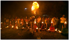 fireball! (Soumya Bandyopadhyay) Tags: rural fire women village wide perspective bengal puja westbengal gajon ritul charak canon1635mmf28lii canoneos5dmk3