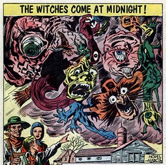 The Witches Come at Midnight! (Tom Simpson) Tags: halloween illustration vintage comics witch 1950s horror comicbooks witches 1952 cityofthelivingdead