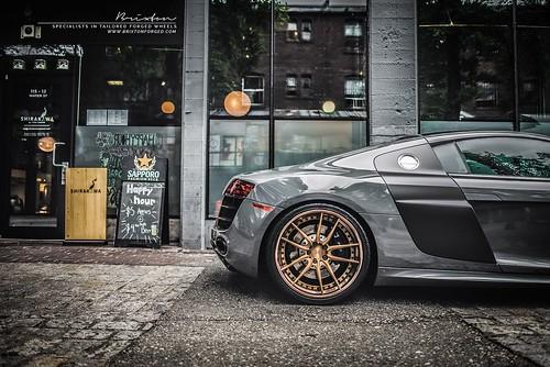 Audi R8 V10 on Brixton Forged M53 Targa Series