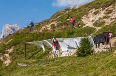laundry (Sabina Kos) Tags: italy outdoor laundry hikers dolomites