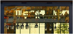 Bar At Daybreak (sorrellbruce) Tags: morning window bar sunrise reflections dawn glasses quiet fuji patterns shapes silence forms lightandshadow daybreak warmlight glassware summermorning sunllight lr6 photoninja fujinon90mm fujixt1