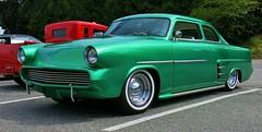 """1953 Ford Customline Tudor """"Kustom"""" (Custom_Cab) Tags: door 2 green ford car sedan tudor customized chopped custom 1953 kustom 2door customline"""
