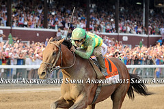 Keen Ice and Javier Castellano defeat American Pharoah and win the GI Travers S. at Saratoga (Rock and Racehorses) Tags: ny newyork saratoga spa travers 2015 americanpharoah keenice pharoahtoga webkeenice2626