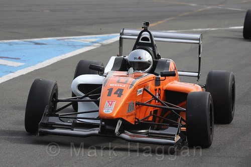 Jack Lang in BRDC F4 Race Two at Donington Park, September 2015
