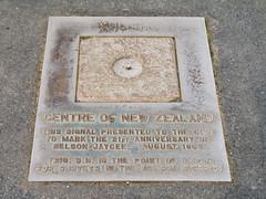 259 - Plaque marquant le centre de la Nouvelle-Zélande
