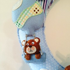 Kit do beb (Pina & Ju) Tags: handmade artesanato guirlanda bebe beb feltro patchwork maternidade ursinho