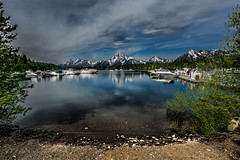 Get away from it all............ (Cajun Snapper) Tags: marina bay tranquility wyoming nautical grandtetons canonef1740mmf4lusm coulter mountainrange grandtetonnationalpark snowcappedmountains gtnp jacksonholewyoming landscapescene cloudsandskies canoneos5dmarkiii
