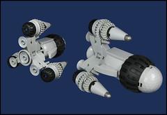 "The Corsair ""Trichordia"" (Karf Oohlu) Tags: lego corsair spaceship moc microscale microspacetopia"