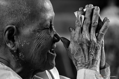 Blessings (alangabrielalvarez) Tags: asia cambodia peace paz monk angkorwat meditation camboya