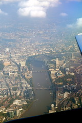London from above - Thames, Houses of Parliament and London Eye (mattk1979) Tags: city england london plane unitedkingdom outdoor central housesofparliament londoneye bigben aerial waterloo riverthames southwark windowseat