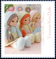 TEAROOM Yarn Dolls... (Mary Jane's TEAROOM) Tags: pastels etsy dollmaking knitteddolls maryjanestearoom dollknittingpatterns naturalyarns littleyarndolls