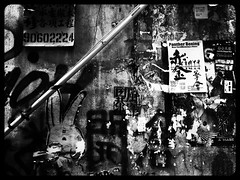 Babel (Jamie Barras) Tags: street urban art hongkong graffiti october bladerunner chinese future scrawl characters boxing sprawl panther babble cyberpunk flyposting tattered 2015