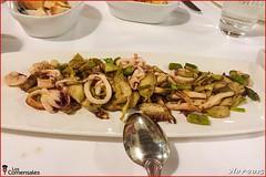 Calamares con alcachofas - Mesón El Granaino (LosComensales.es) Tags: adobo calamar almejas