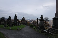 The Necropolis, Glasgow (elisecavicchi) Tags: scotland glow cityscape sundown dusk glasgow monuments gravestones necropolis gloaming