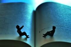 Debts... (mostaphaghaziri) Tags: longexposure blue book miniature nikon indoor books soe debt d7200 nikond7200
