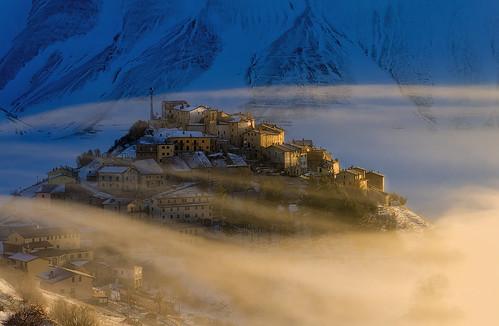 Una gelida mattina di novembre a Castelluccio