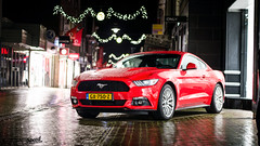 Mustang Ecoboost (Lennard Laar) Tags: autumn red cars ford netherlands car rain sport night dark photography 50mm lights nikon muscle 4 rainy american cylinder nightphoto mustang gt nikkor 18 musclecar sportscar winterswijk 2015 carspotting lennard laar ecoboost carsighting d5100 lennardlaar